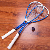 Squash Ball and Racquet