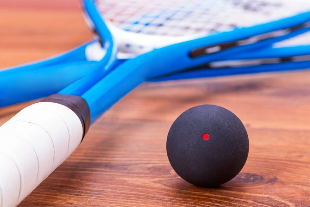Single Red Dot Squash Ball